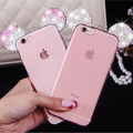 Fashion 3D Diamond Pink Mickey Mouse Rhinestone Ears Phone Case For iPhone 5 5s Se 6