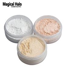 Magical Halo Long Lasting Loose Powder Waterproof Matte Setting Powder with Puff Concealer Light Banana Powder Mineral Makeup(China (Mainland))