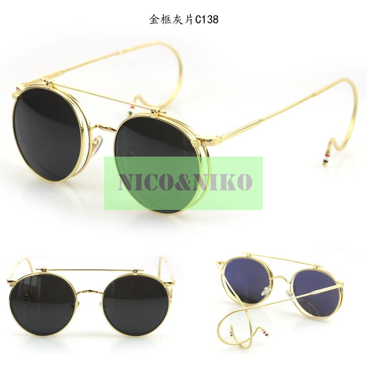 3 Colors Gothic SteamPunk Round Frame Flip Glasses Eyewear 2015 New Vintage Fashion Cool Sunglasses Women Men Brand Designer - Afternoon Lady Online Store store