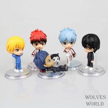 Anime Kuroko's Basketball 5PCS/SET Kuroko Tetsuya Kagami Taiga Kise Ryota PVC Action Figure Toys Dolls Model Collectibles