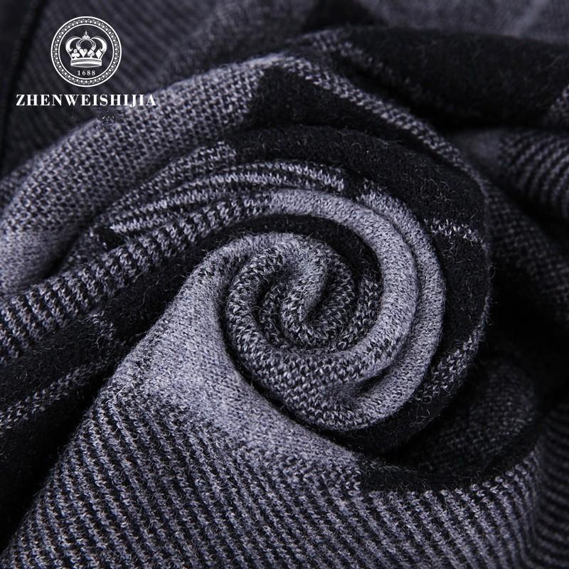 180*30CM 100% Pure Wool Luxury Brand Business Plaid Men Scarf 2017 Wraps Warm Winter Scarves British Style Pashmina Shawls S6
