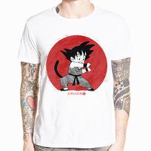 Dragon Ball Z GT Супер Саян Сын Goku vegeta аниме «драгонболл» футболка с коротким рукавом и О-образным вырезом футболка Летняя футболка HCP4468(China)