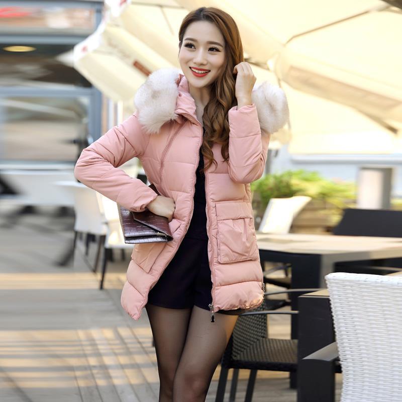 Fall winter women slim coat 2015 Spring cotton-padded jacket wadded female pink women's plus size green jackets