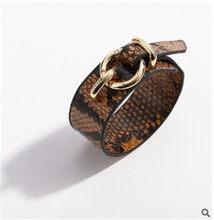 فاسق بارد الرجال النساء أزياء اليدوية جلد طبيعي سوار الإسورة الاسوره(China)