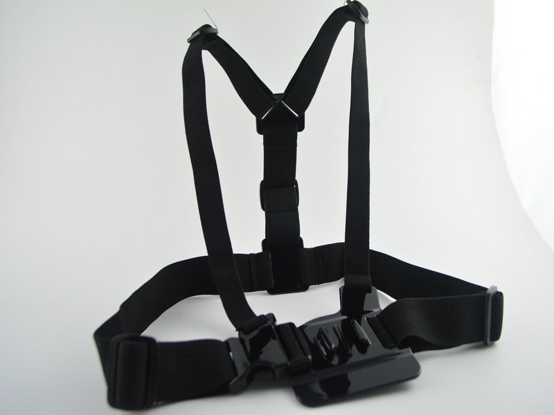 Gopro Strap Harness Adjustable Elastic Belt Chest Mount Camera Hero 3 2 Accessories Black Edition - Ann Huang's store