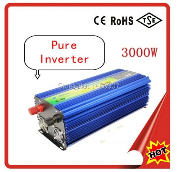 RoHS Approved Off grid inverter3000w,3000w solar power inverter 3000W Pure Sine Wave Inverter(China (Mainland))