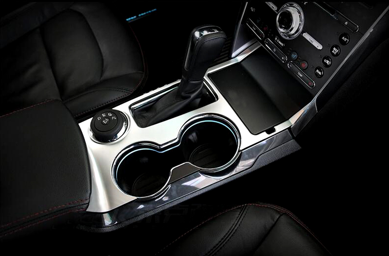 for ford explorer 2016 abs plastic car interior water cup holder gear box panel cover trim. Black Bedroom Furniture Sets. Home Design Ideas