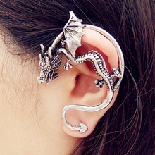 1 pcs Earings Fashion Jewelry Punk Gothic Vintage Retro Dragon Clip Earrings For Women Ear Cuff Jewelry Piercing Bijouterie(China (Mainland))