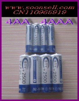 Top Selling!4+4  1.2v Piles AA 2500mAh AAA 1000mAh NiMH Ni-MH Rechargeable Recharge Battery Betteries Pack + Free Shipping