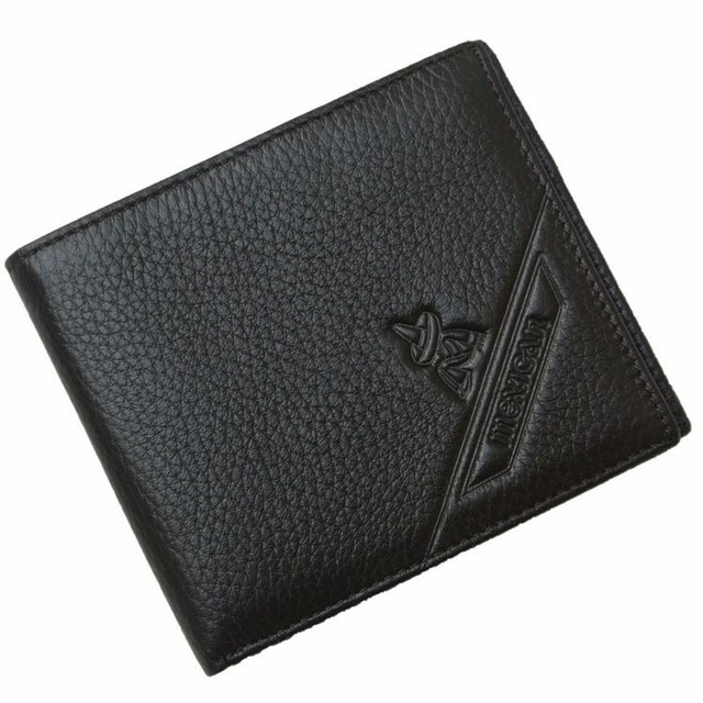 2014 brand genuine leather wallet for men's short design wallet men