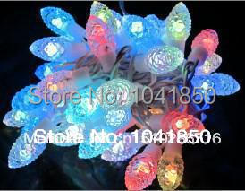 Fedex free shipping LED pine cone colorful light, 5M 50LED Festival Xmas Light Decorated for Wedding Party holiday US Plug(China (Mainland))