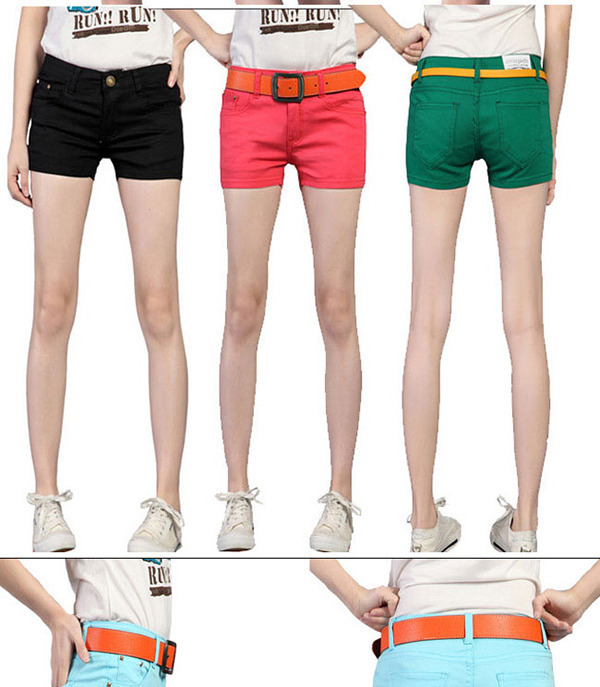 2014 Summer 8 Colors New Women's Candy Color Shorts Casual Short Jeans 5 Size Drop Shipping - favor-early store