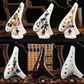 12 Hole Ocarina Ceramic Alto AC Flute Musical Instrument With Neck Strap Inspired Of Time Legend