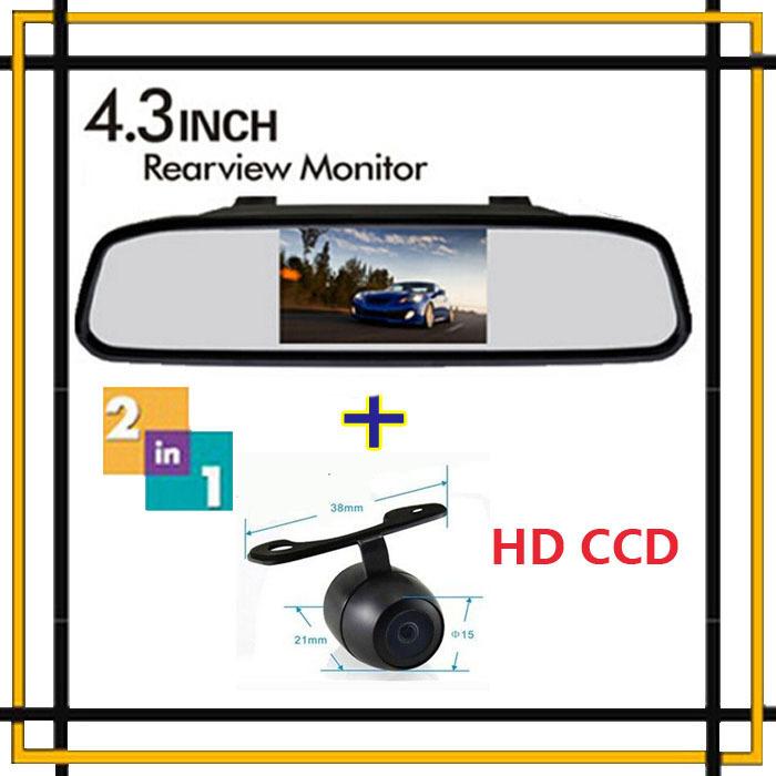 "Wholesale Vehicle 4.3"" Color Tft Screen Car Rear View Mirror Monitor 12V Display Car Back up Reverse Camera Parking Assistance(China (Mainland))"
