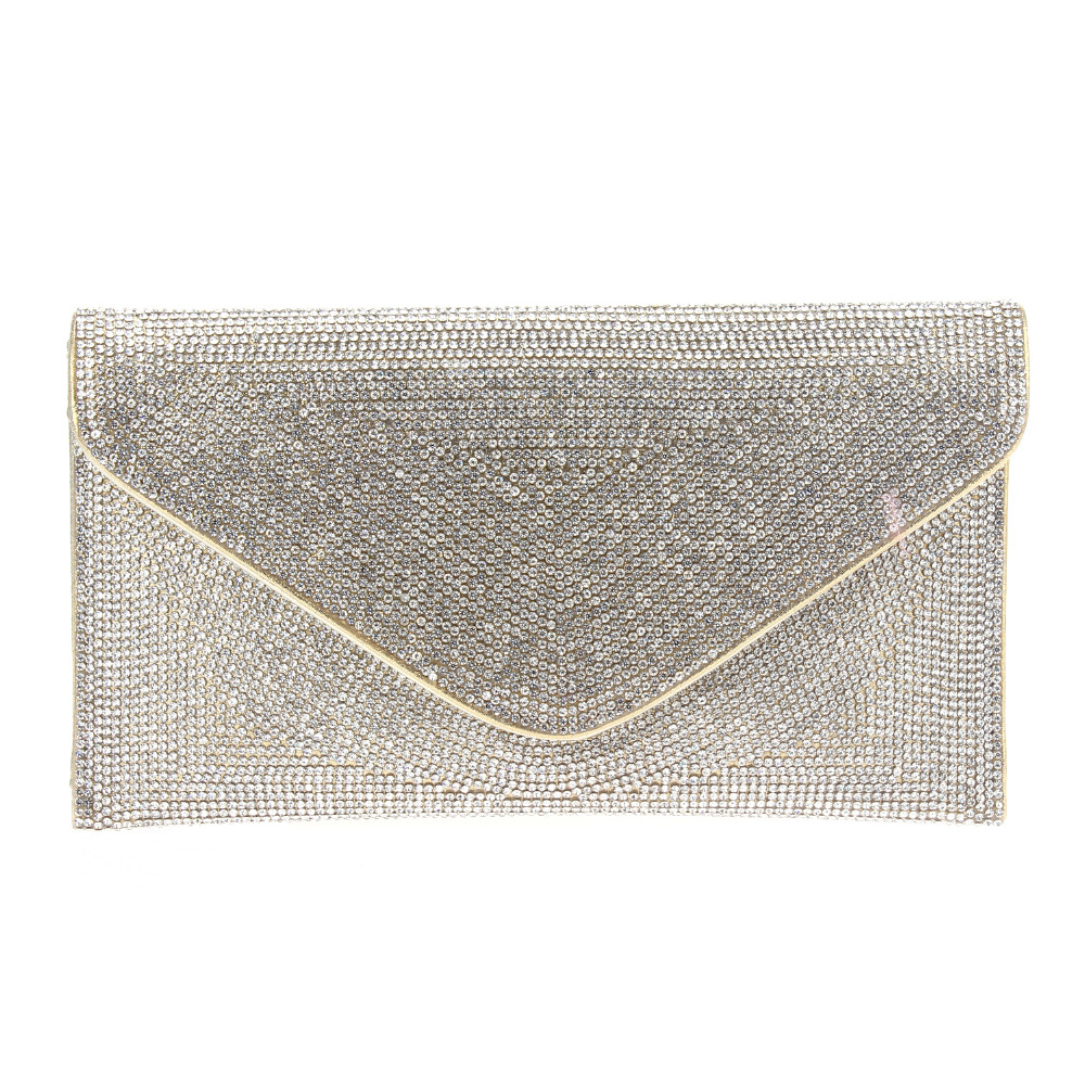 Full drill Stone Women's Fashion Clutches Evening Envelope Bags Gold & Black & Silver & Gold & Rose Gold 120 cm Chain Crystals(China (Mainland))