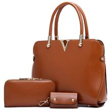 Leather Bag For Women Purses And Handbags Designer Fashion Shoulder Bag Ladies Bolsos 3 Pcs Composite Sac Femme MU331