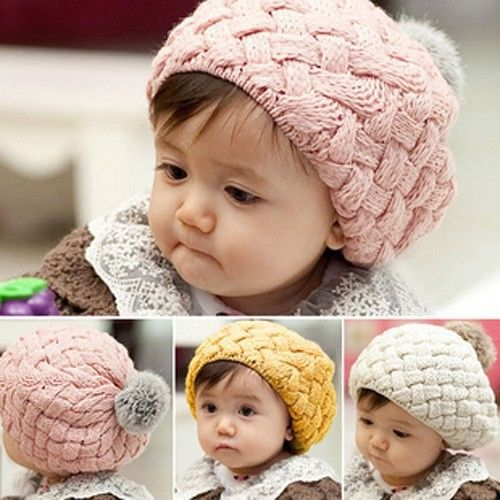 Fashion Winter Warm Cute Baby Kids Girls Toddler Knitted Crochet Beanie Hat Cap(China (Mainland))