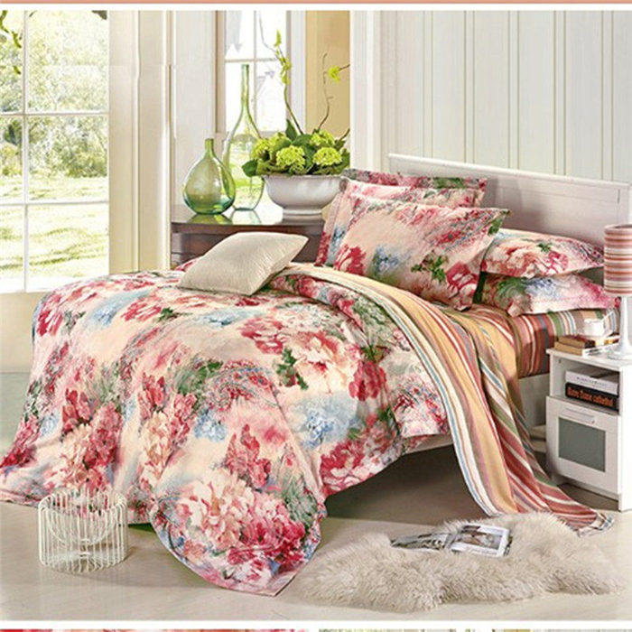 Wedding Bedding Sets European And American High End Luxury Bed Linen 4pcs Cotton Satin Jacquard
