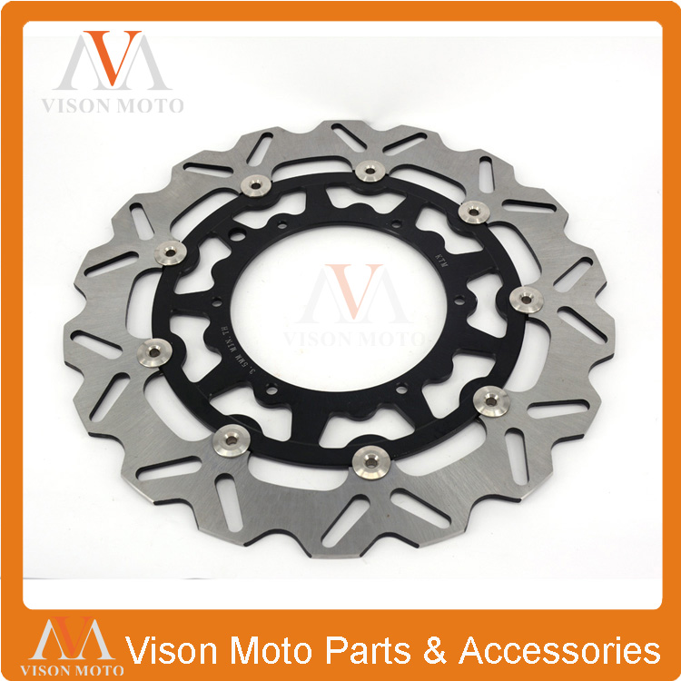 320MM Front Wavy Floating Brake Disc Rotor Husqvarna TE TC FE FC 125 250 300 350 450 501CC 2014 2015 Supermoto Motard - VM parts store