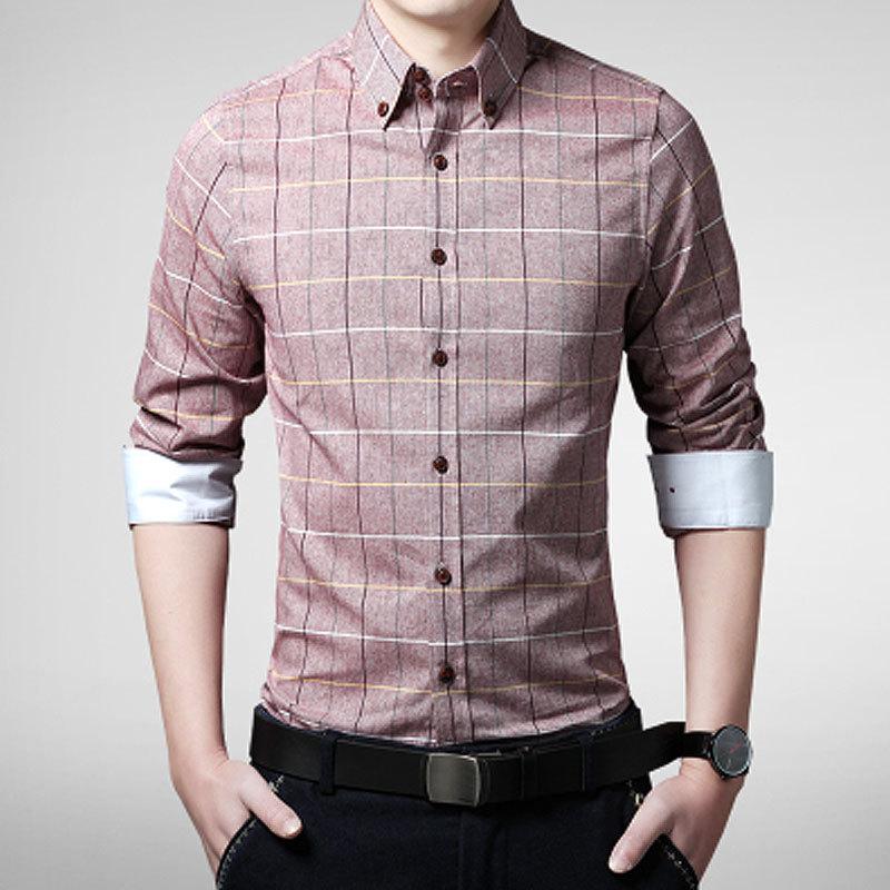 Hot sale men 39 s shirt 2016 top fashion plaid shirts mens for High quality mens shirts