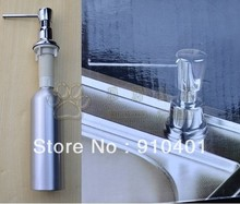 Free Shipping Wholesale And Retail New Aluminum Construction Chrome Finish Kitchen Sink Soap Dispenser(China (Mainland))