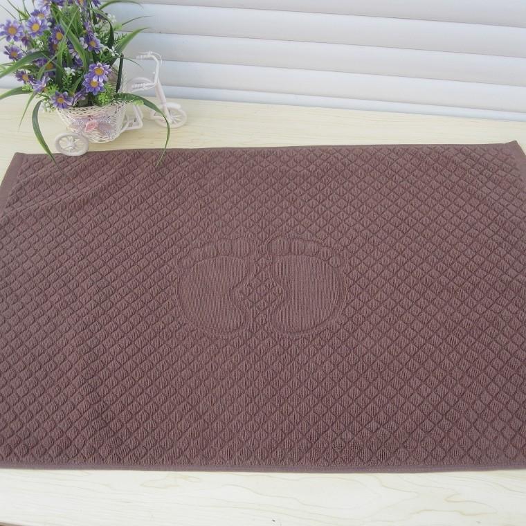 Bath mat hotel to cotton towel mat with thick cotton cloth pad suction pads door mat carpets(China (Mainland))