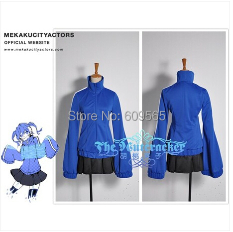 Free Shipping!2014 New Mekaku City Actors Kagerou Project Ene Cosplay Costume Custom Made blue Coat+ blackskirtОдежда и ак�е��уары<br><br><br>Aliexpress