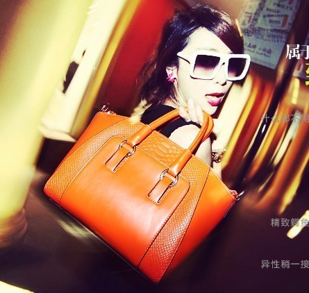 Free shipping Cat bag 2012 autumn brief crocodile pattern shoulder bag handbag women's handbag m03-038
