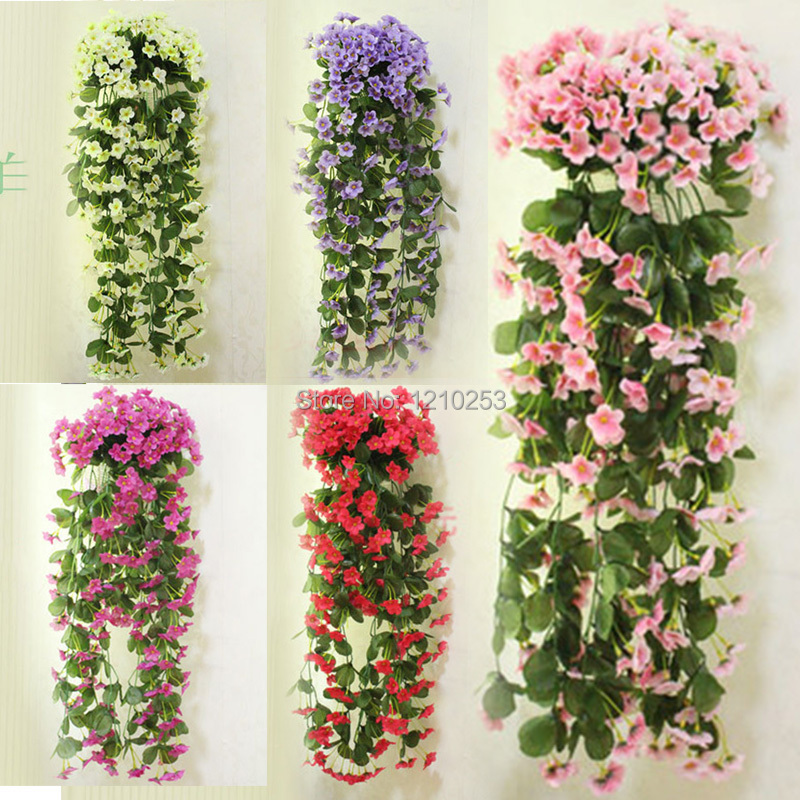 Wall mounted home wedding decorations artificial flowers for Artificial flower for wedding decoration