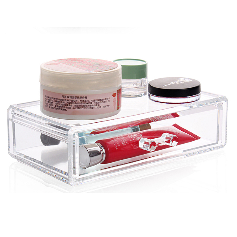 185 mm x 100 mm x 50 mm New Design Clear Acrylic Swab Box Q-tip Storage Holder Cosmetic Makeup tool Women Storage Box With Lid(China (Mainland))
