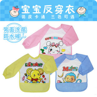 High quality cute cartoon animals baby boys girls Waterproof bib children overclothes free shipping(China (Mainland))