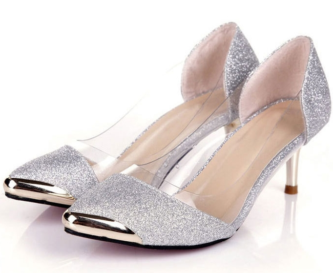 Silver low heel womens - ChinaPrices.net