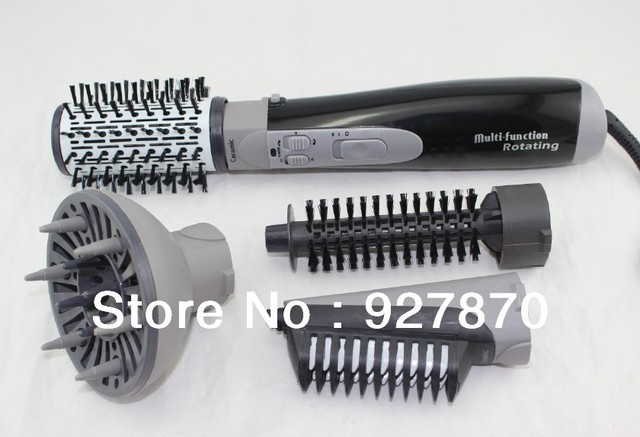 Wholesale Free Shipping 4 in1 Combo Hair Styler Tools Rotating Electric Straightening Hair Brush Only 220V European Plug Stock