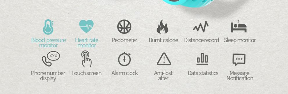 SKMEI Артериального Давления Smartband Мужчины Сердечного ритма Сна Трекер Калорий, Шагомер Smart Watch Сообщение Bluetooth Вызовов Напоминание B15P