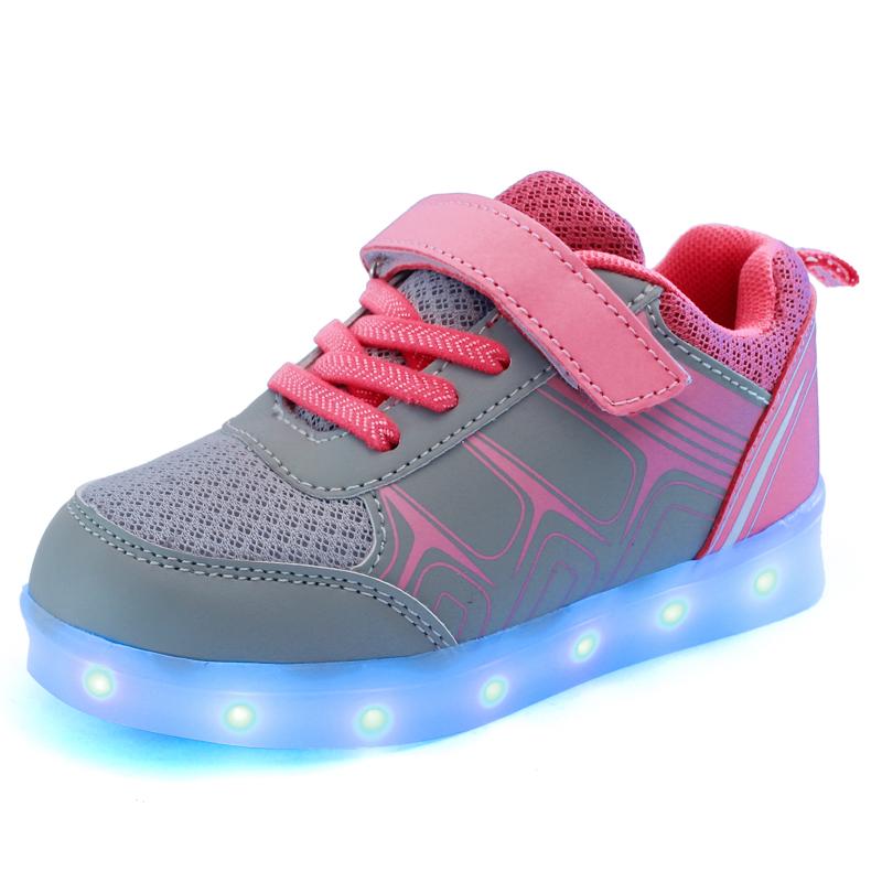 Luminous Led Kids Neon Sneakers Light up Children Flashing