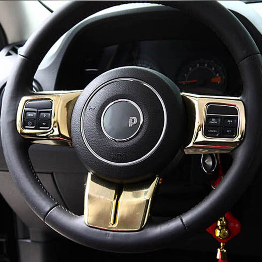 Interior Accessories For Jeep Grand Cherokee Wrangler Compass Patriot Steering Wheel Buttons