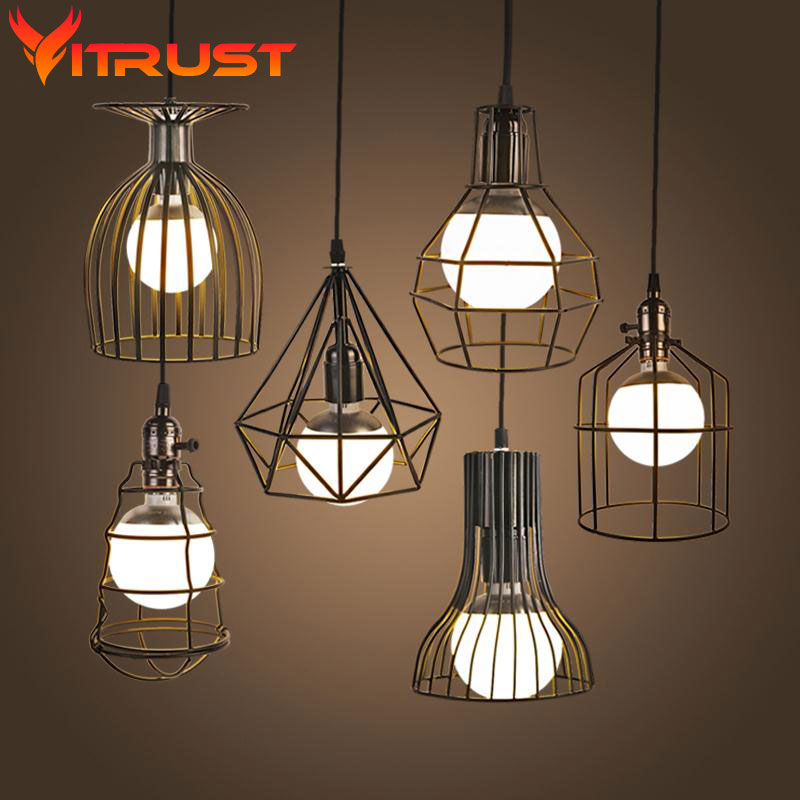 Retro Vintage Industrial Lighting Country Style Hanging