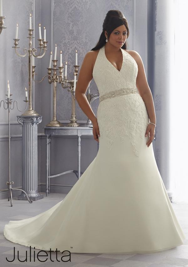 High quality halter neck plus size wedding dress 2015 lace for Plus size beaded wedding dresses