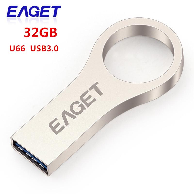 High quality Eaget u66 USB3 0 flash drive USB memory stick 16GB 32GB 64GB brand metal