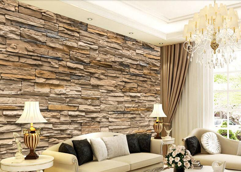 Ly 828 2015 new 3d brick wall paper modern vintage brick for 3d brick wall covering