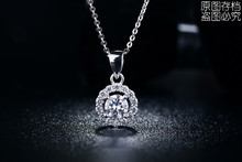 S925 Necklace Pendant white gold filled jewelry for women vintage wedding chain necklace wholesale 2015 New