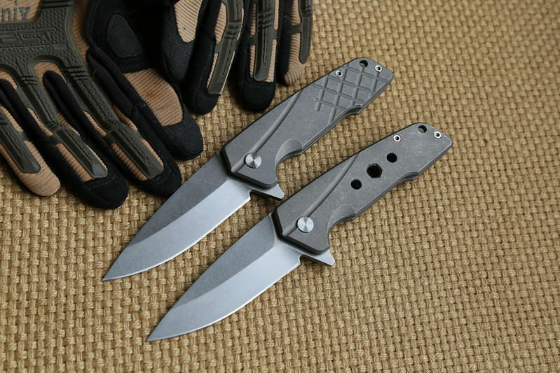 Buy OEM Custom ZT2017 Folding knife Titanium handle S35VN blade steel Flipper bearing Tactical hunt camping survival Knives EDC tool cheap