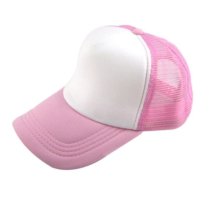 Attractive Unisex Casual Hat Solid Baseball Cap Trucker Mesh Blank Visor Hat Adjustable June 17