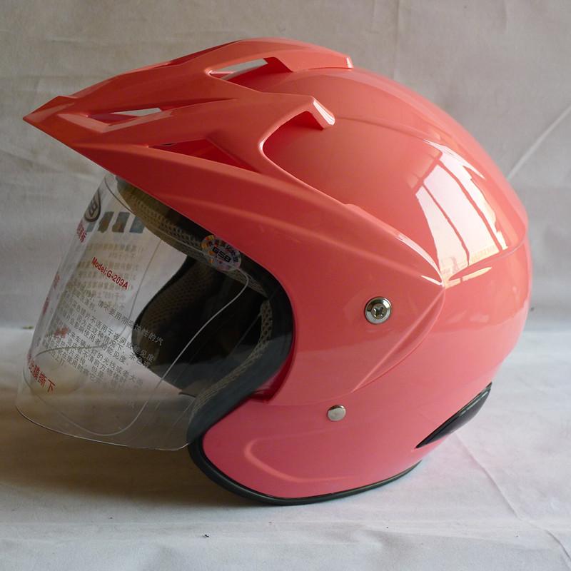 Free shipping Gsb helmet motorcycle electric bicycle helmet male women's g-209a belt hat brim pink