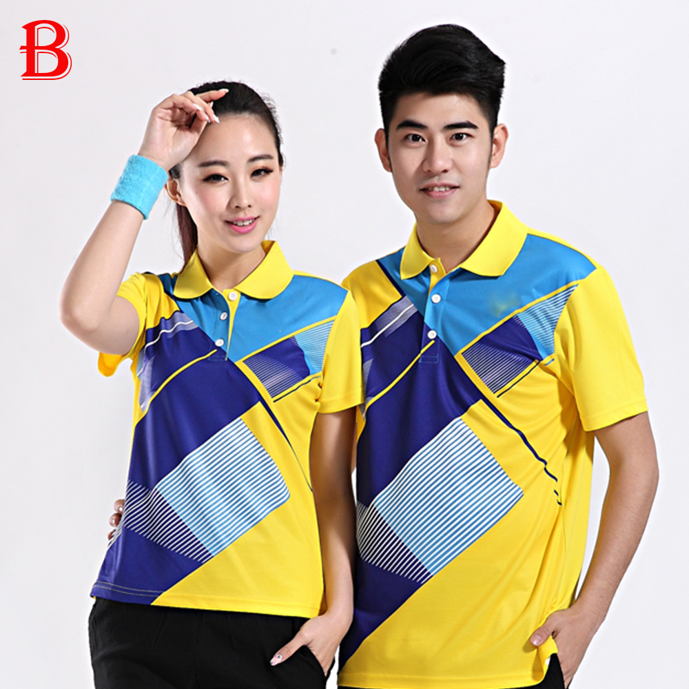 Men And Women Table Tennis Polo Shirts Beautiful Lover Model Quick Dry Tennis Shirts BTF09(China (Mainland))