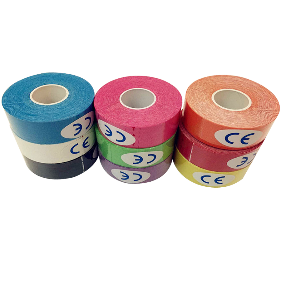 RU USA 1pcs 5M*2.5CM Sports Tape Kinesio Sports Physio Muscle Strain Injury Support Muscles Care Strap Sticker Sporting Goods(China (Mainland))