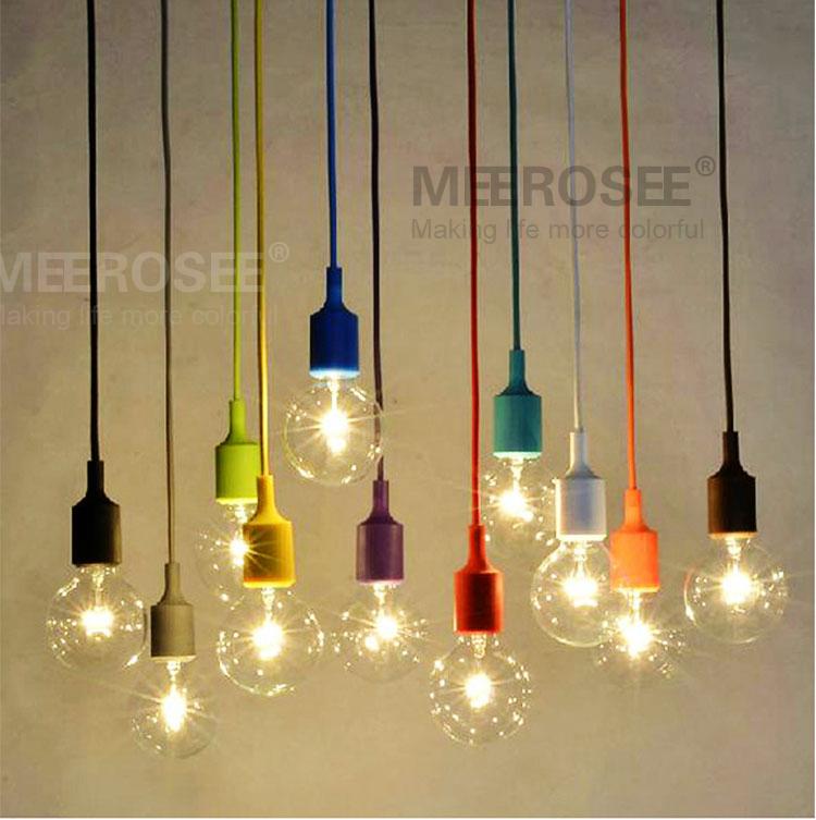 Colorful Pendant Light Modern lamp lustre Vintage Edison Bulbs Muuto E27 or E26 Art Pendant Lights(China (Mainland))
