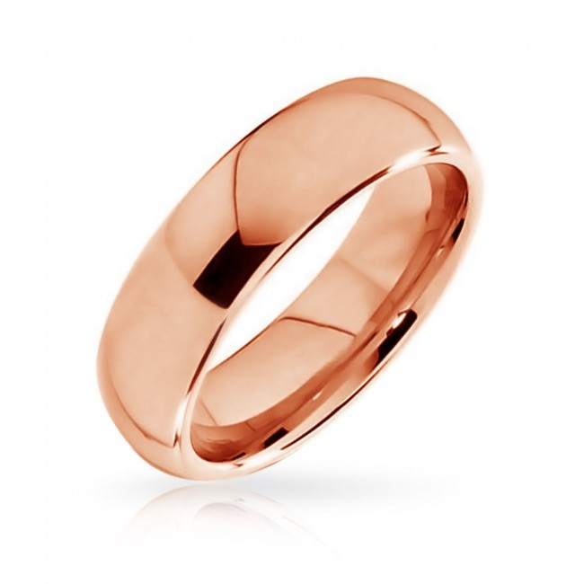 Hot sell 6mm Rose Gold Plated Tungsten Ring wedding band bague anillos anel anillo aneis feminino vintage jewelry(China (Mainland))
