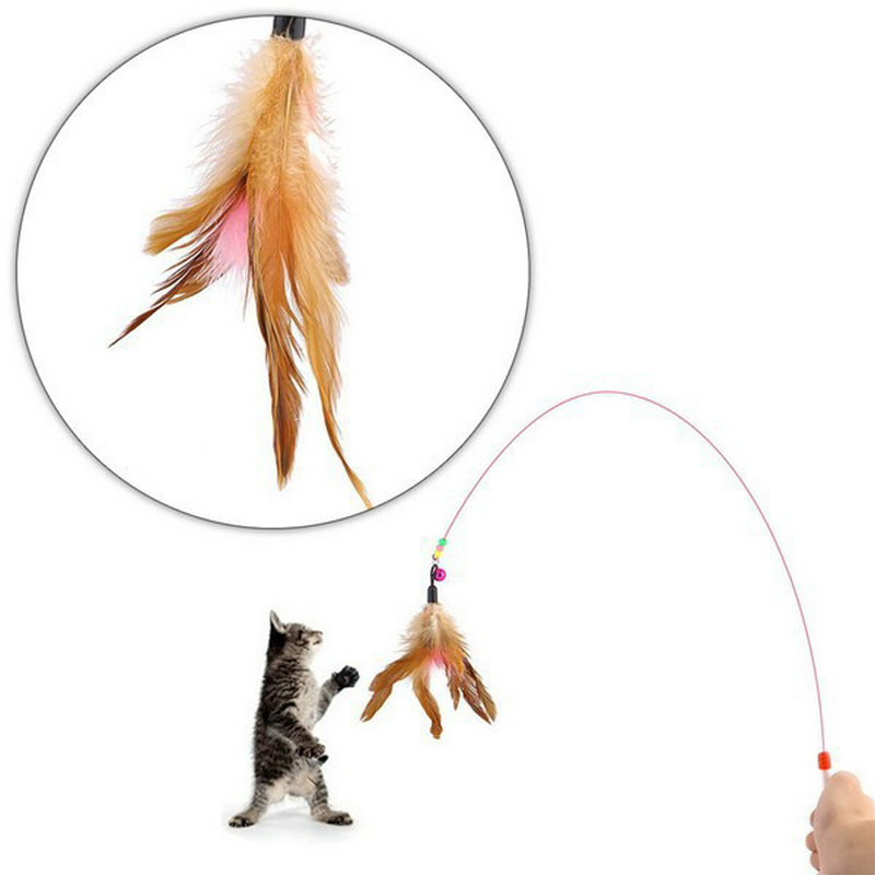 Colored Feather Small Bell Toys For Cat Teasing The Cat Toys(China (Mainland))