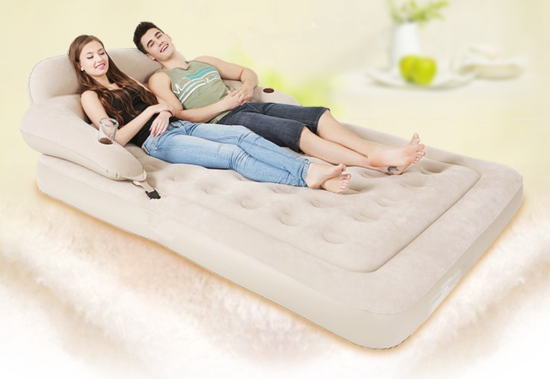 Cama Air Bed Backrest Inflatable Mattress Fast Inflatable Folding Bed Bedroom Furniture Mueble De Dormitorio Free Shipping